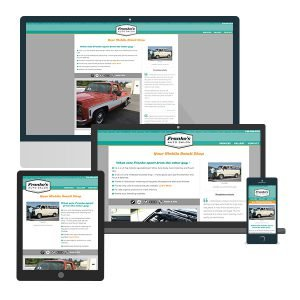 Franko's Auto Salon Web Design.