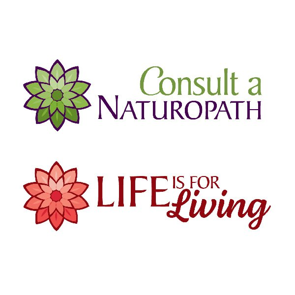 Logo for Life is for Living and Consult a Naturopath.