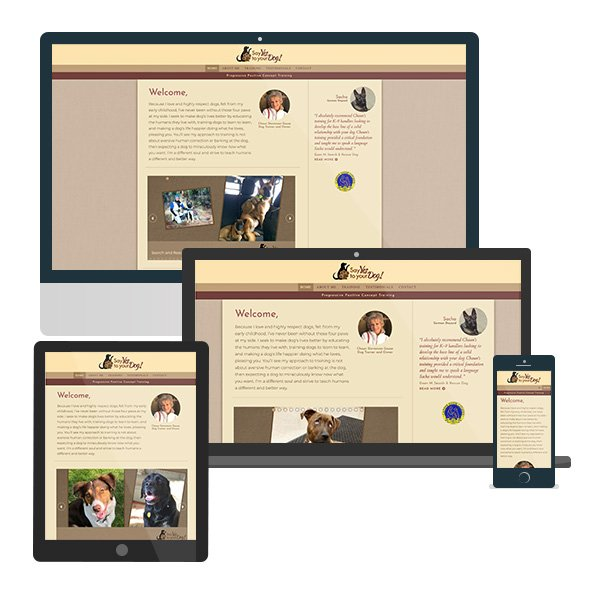 Say Yes to Your Dog Web Design.